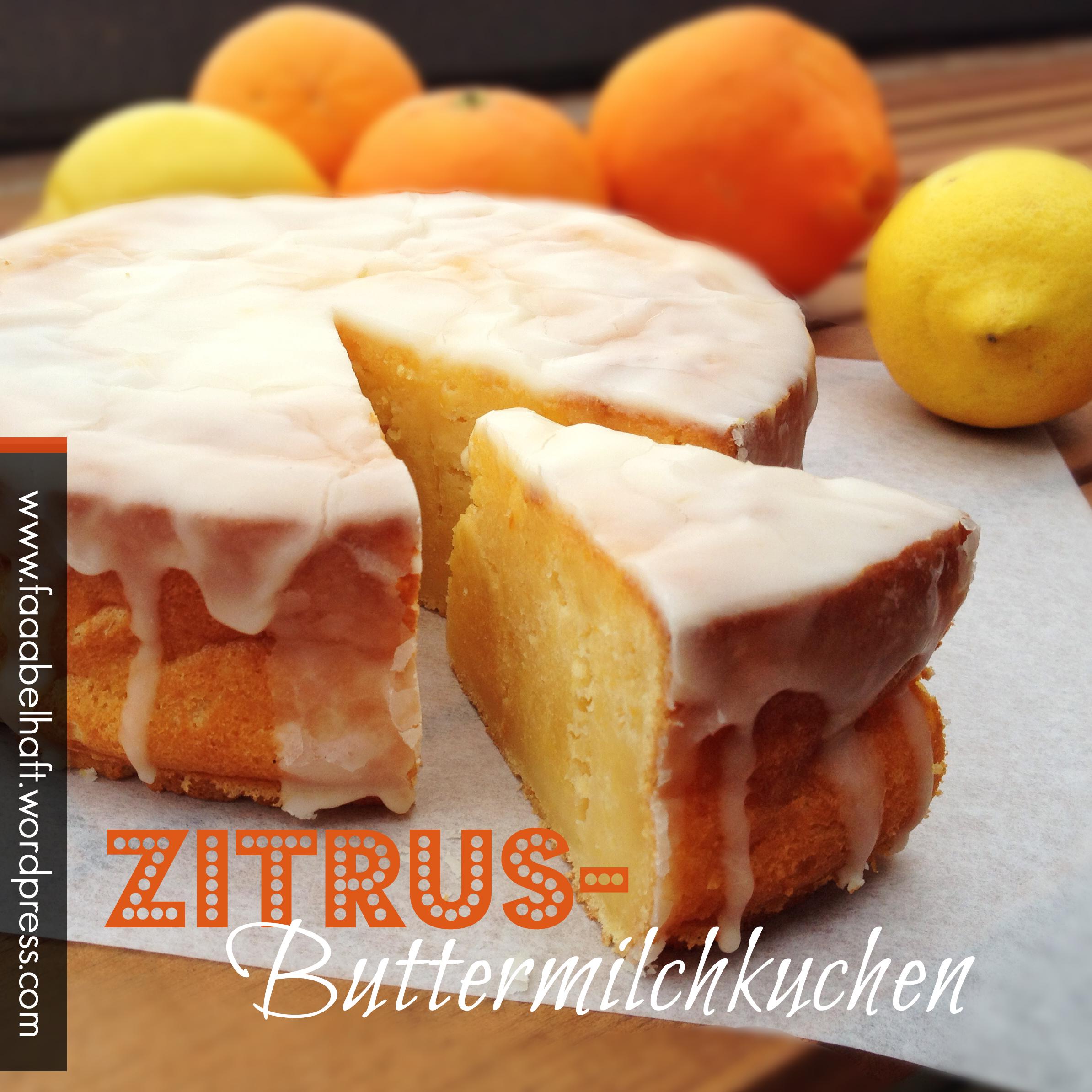 Zitrus-Buttermilchkuchen